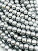 6mm Wood Beads: Metallic Silver