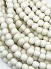 6mm Wood Beads: White