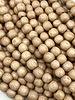 6mm Wood Beads: Natural Rosewood