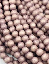 6mm Wood Beads: Mauve