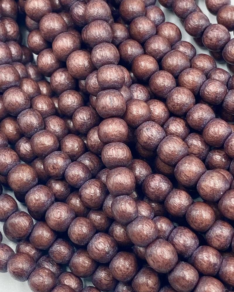 6mm Wood Beads: Merlot