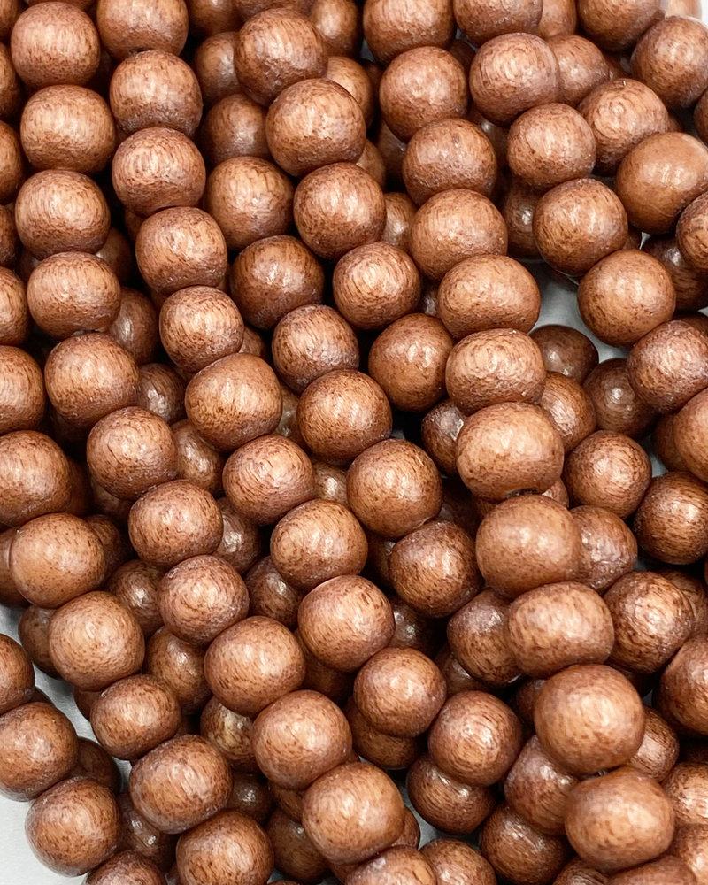 6mm Wood Beads: Dark Tan
