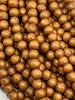 6mm Wood Beads: Rusty Orange