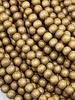 6mm Wood Beads: Sand