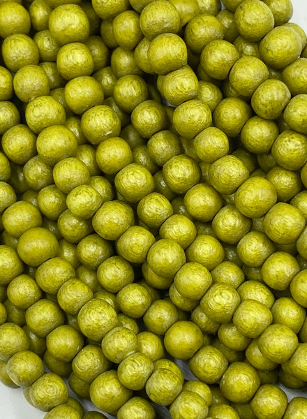 6mm Wood Beads: Chartreuse