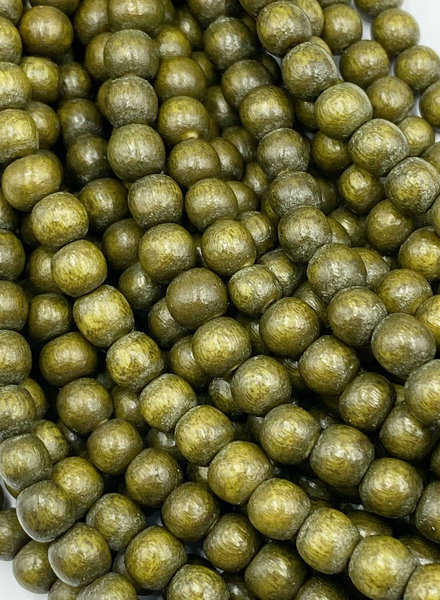6mm Wood Beads: Golden Olive