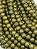 6mm Wood Beads: Golden Olive