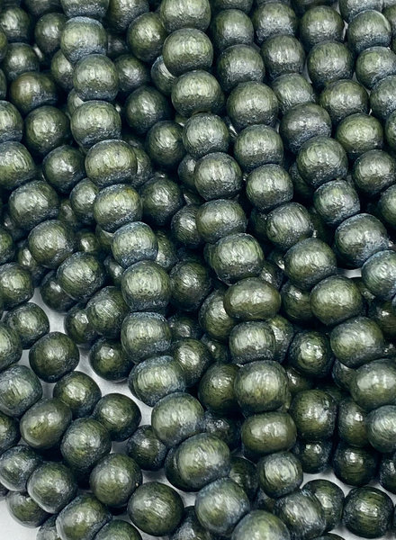 6mm Wood Beads: Evergreen
