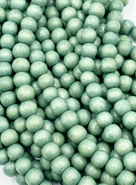 6mm Wood Beads: Seafoam