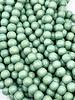 6mm Wood Beads: Seafoam