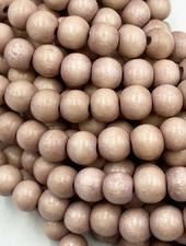 8mm Wood Beads: Mauve