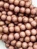 8mm Wood Beads: Rose