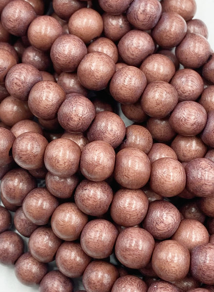 8mm Wood Beads: Dusty Burgundy