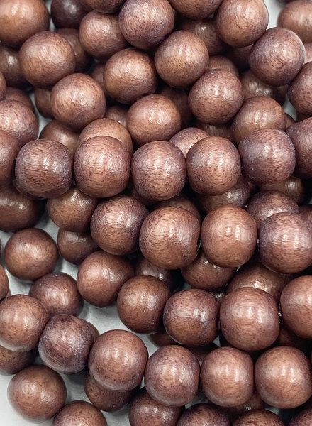 8mm Wood Beads: Merlot