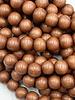 8mm Wood Beads: Dark Tan