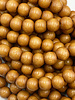 8mm Wood Beads: Rusty Orange