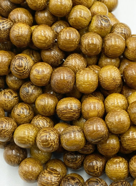 8mm Wood Beads: Natural Robles