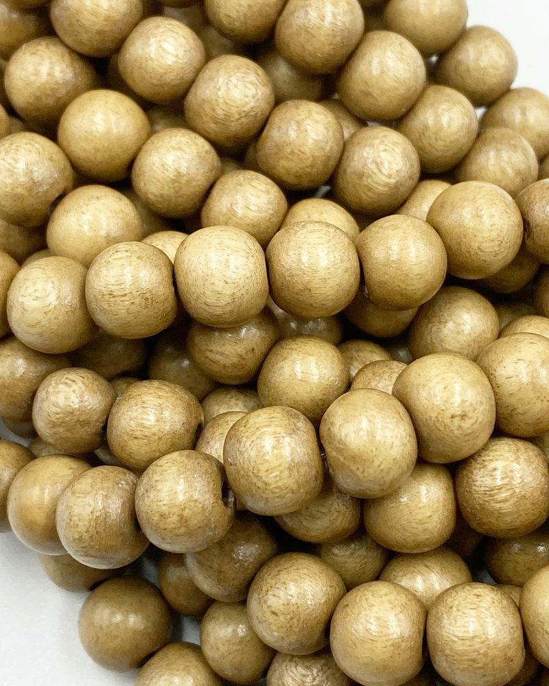 8mm Wood Beads: Sand