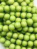 8mm Wood Beads: Pastel Green