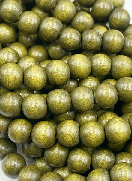 8mm Wood Beads: Golden Olive