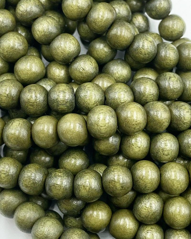 8mm Wood Beads: Jade