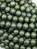 8mm Wood Beads: Evergreen