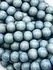 8mm Wood Beads: Moody Blue