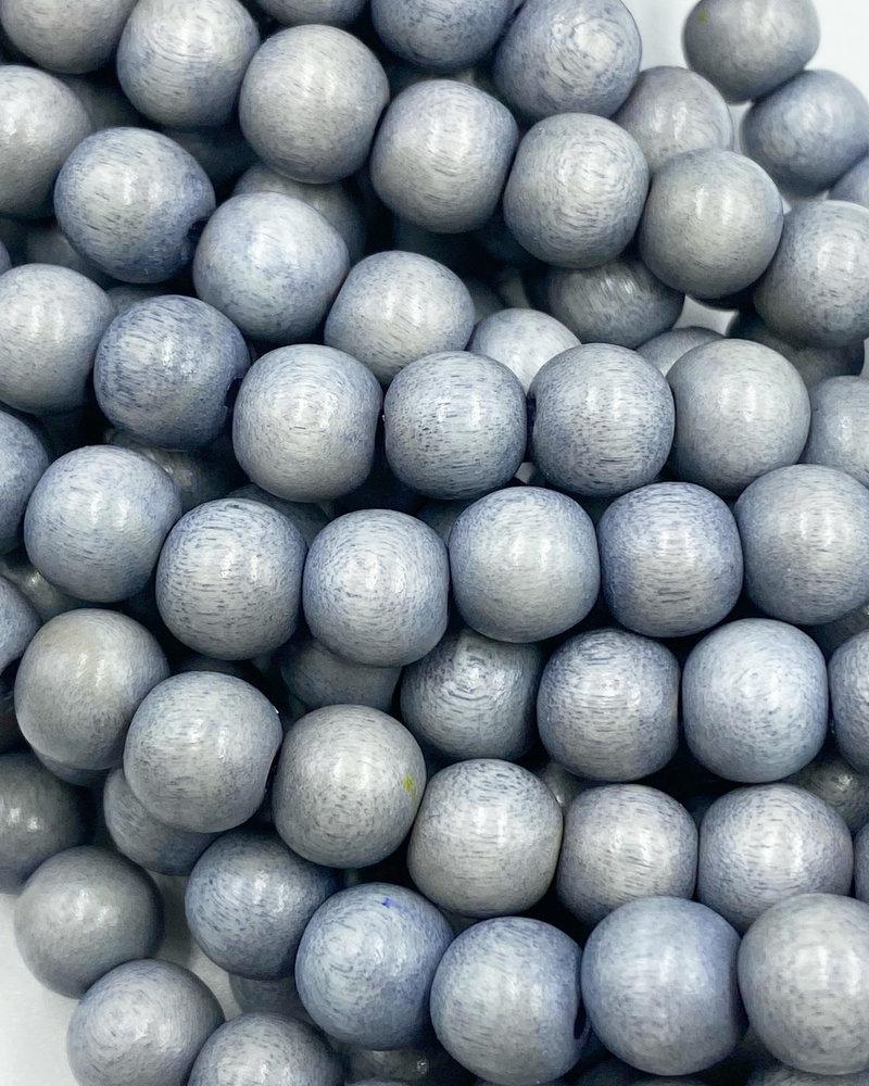 8mm Wood Beads: Grey Lilac