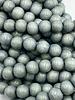 8mm Wood Beads: Cadet Grey