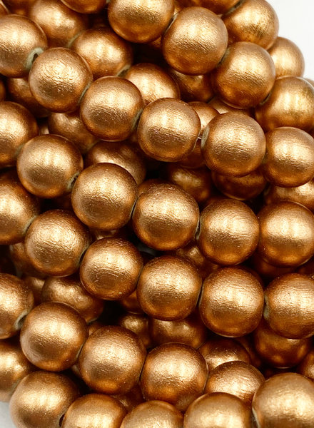 8mm Wood Beads: Metallic Copper