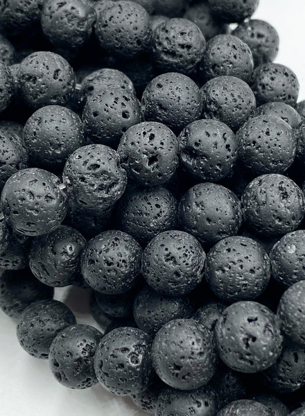 8mm Black Lava Stone