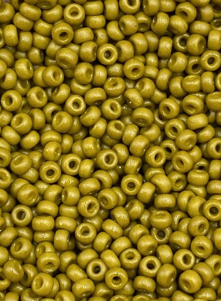 Size 11/0 Miyuki Round: Duracoat Opq. Dyed Olive