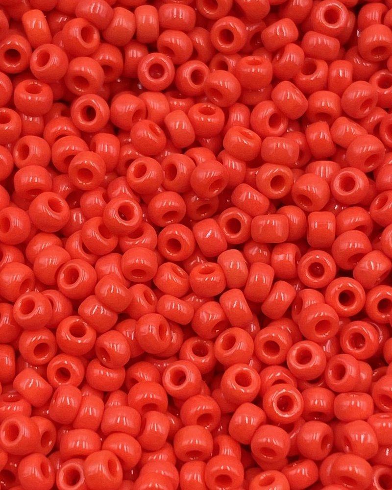 Size 11/0 Miyuki Round: Vermillion Red