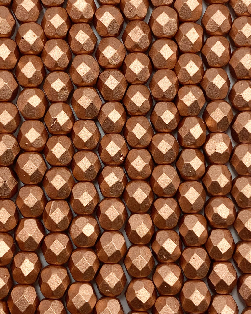 Fire-Polish 6mm : Matte - Metallic Copper