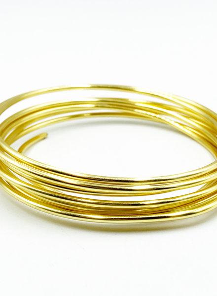 12GA ROUND CRAFT WIRE- NON TARNISH GOLD