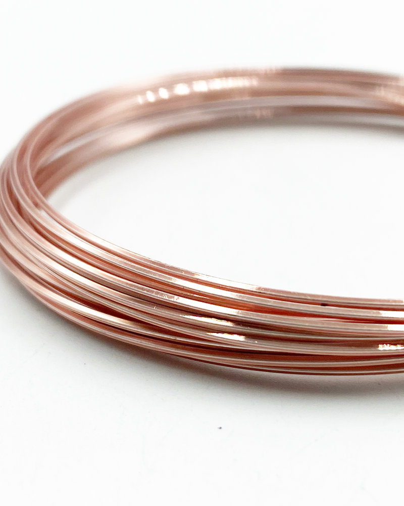 21GA SQUARE CRAFT WIRE- ROSE GOLD