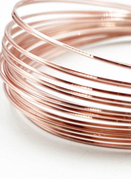 21GA SQUARE CRAFT WIRE- ROSE GOLD