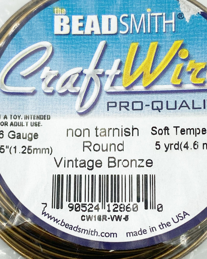 16GA ROUND CRAFT WIRE -  VINTAGE BRONZE