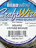 21GA SQUARE CRAFT WIRE- VINTAGE BRONZE
