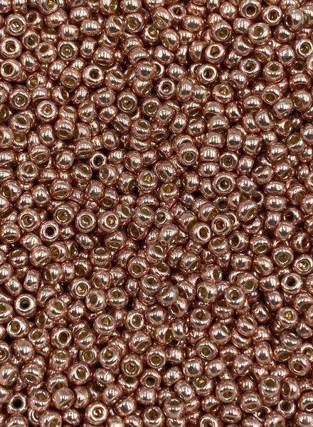Size 11/0 Miyuki Round: Duracoat Galvanized Bright Copper