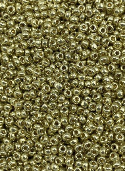Size 11/0 Miyuki Round: Duracoat Galvanized Yellow Gold
