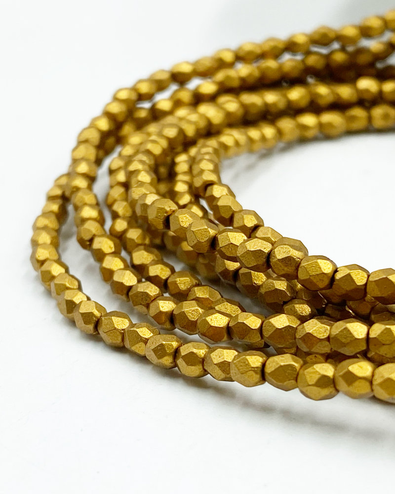 Firepolish 3mm : Matte - Metallic Goldenrod