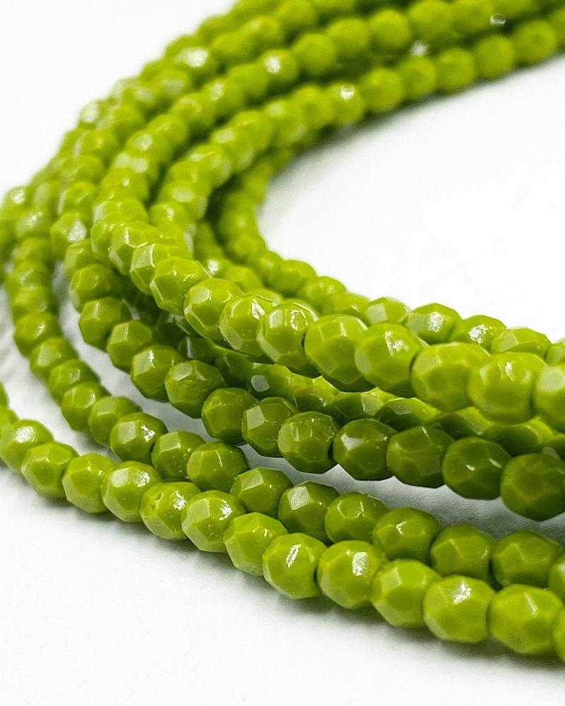 Firepolish 3mm : Opaque Olive