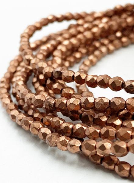 Firepolish 3mm : Matte - Metallic Bronze Copper