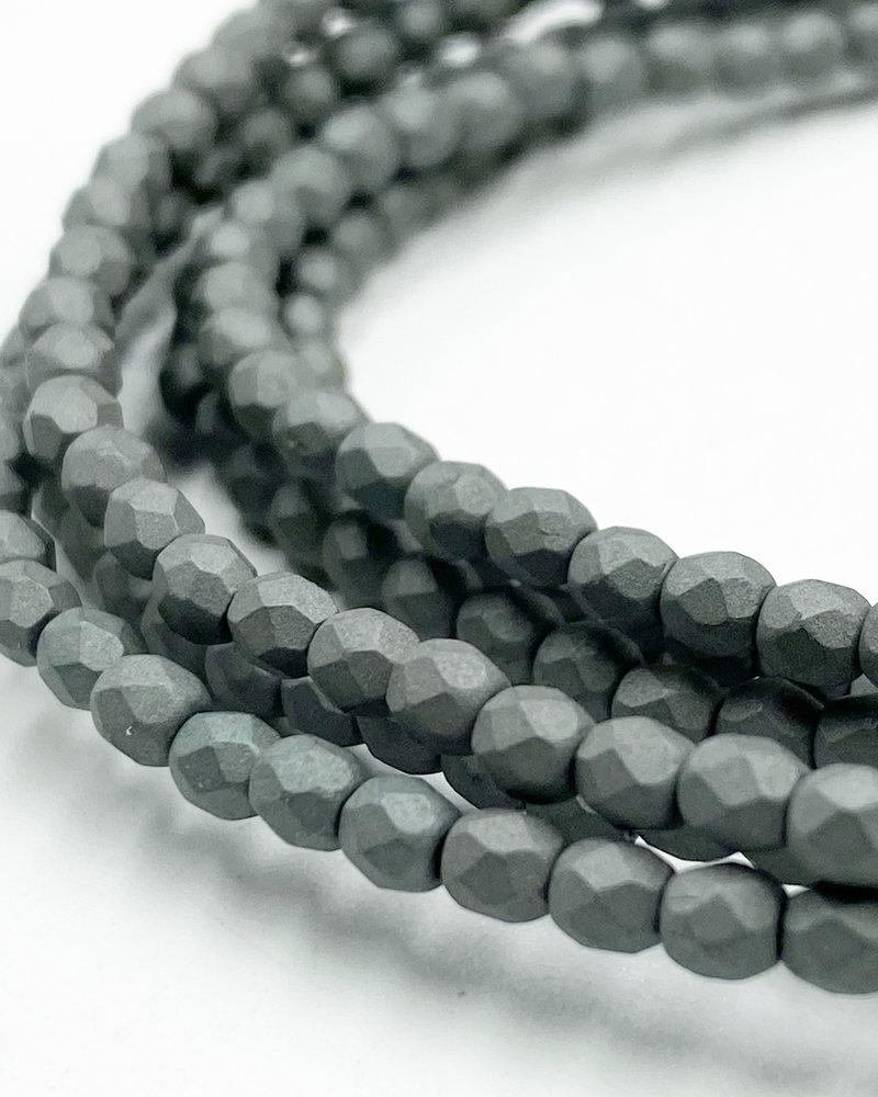 Firepolish 3mm : Saturated Gray