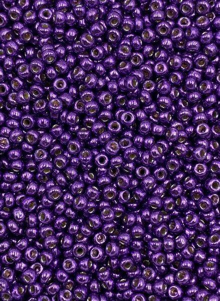 Size 11/0 Miyuki Round: Duracoat Galvanized Purple Orchid