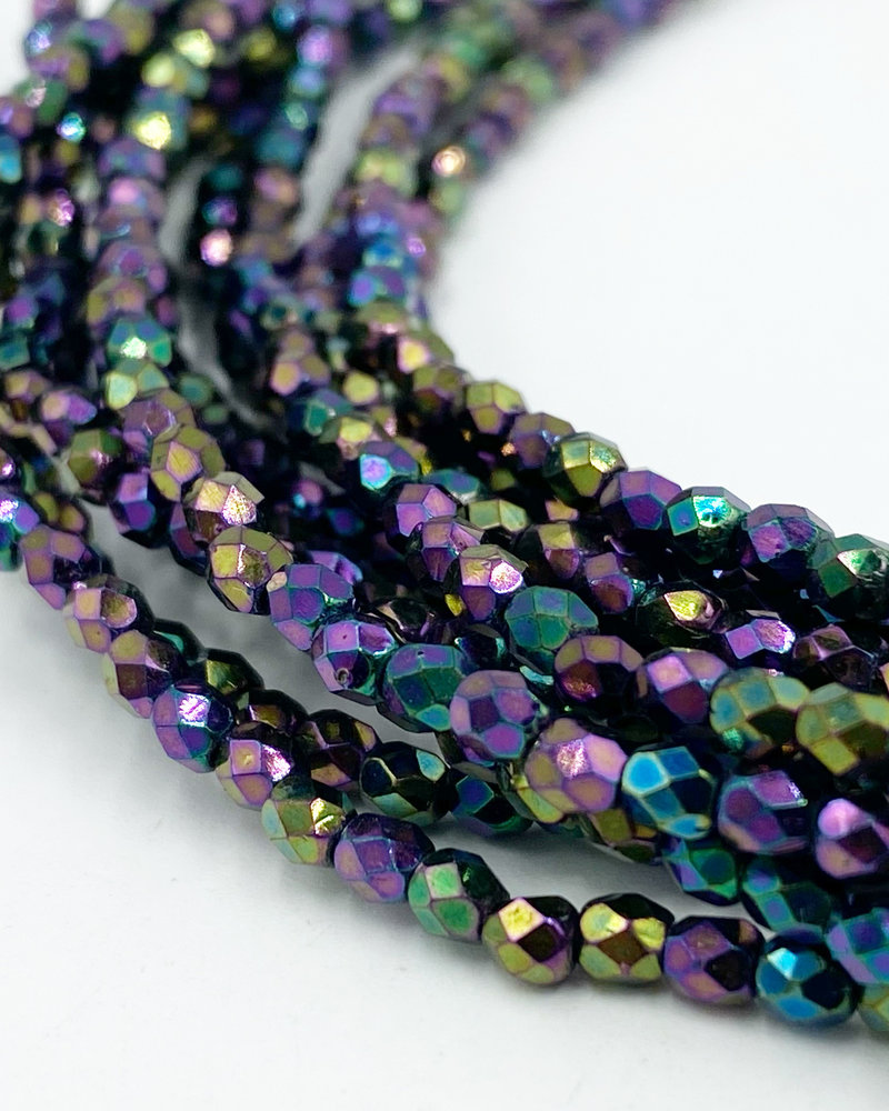 Fire-Polish 3mm : Iris - Purple