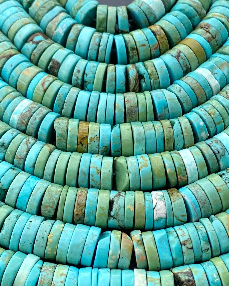 3x10mm Turquoise Magnesite Heishi