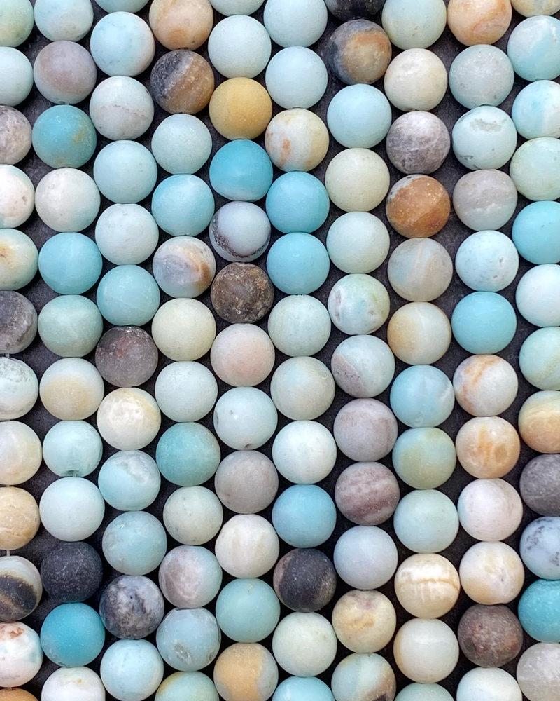 10mm Matte Amazonite
