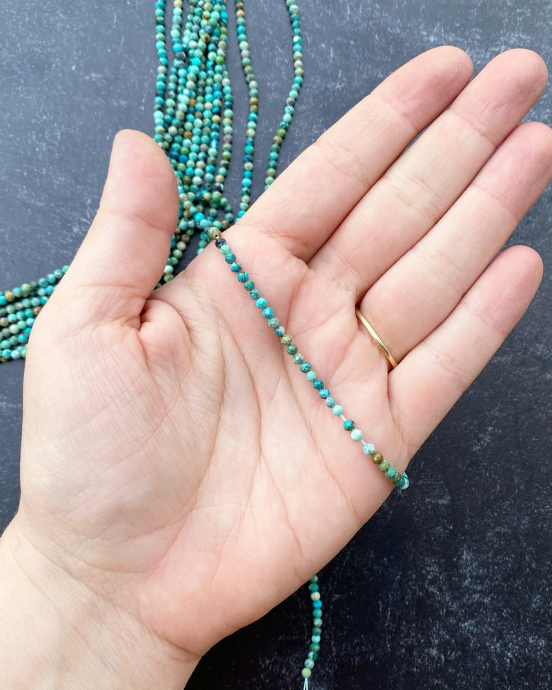 3mm Micro Faceted Turquoise
